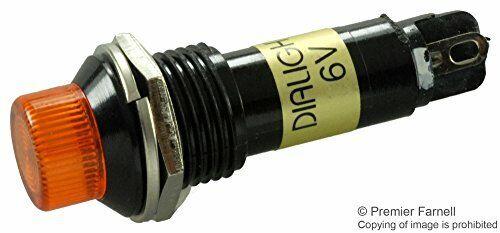 DIALIGHT - 612-3332-120F - PANEL MOUNT INDICATOR, LED, 12MM, YELLOW, 6V,5PK