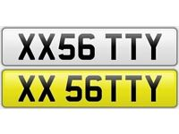 SATTY private number plate cherished personalised car reg number - XX 56 TTY