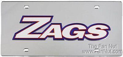 Gonzaga Bulldogs Silber SD 88621 Deluxe Laser Kennzeichen University Of Gonzaga University Bulldogs