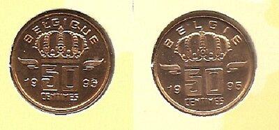 50 cent 1995 fr+vl * uit muntenset * FDC / UNC *