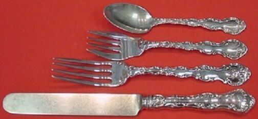 Gorham Sterling Silver CLASSIC BOUQUET 4 Pc Place Setting Dinner Size