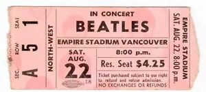 Wanted: Beatles Empire Stadium concert tickets