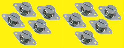 Quick Flush Head Self Ejecting Button Buttons 716 500in 10 pk Steel Dzus