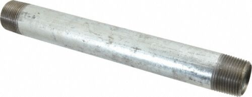 "1/2"" GALVANIZED STEEL 12""  LONG  NIPPLE fitting pipe npt 1/2 x 12 malleable iron"