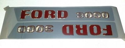 Ford 3000 3 Cyl 1965 To 1968 Tractor Hood Decal Kit 2 Pc 8535