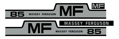 Massey Ferguson 85 Tractor Hood Grille Decal Set Sticker Vintage 265 255 1105