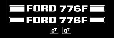 Ford Tractor Loader Decal Kit 776f Graphics Stickers Set Emblem 776 Quic Tach