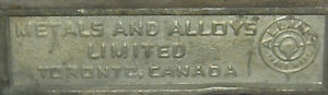 c1800s ingots ingot Toronto Canada Metal Alloys Limited Antique Kingston Kingston Area image 4