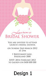 Personalised Bridal Shower, Kitchen Tea, High Tea Invitations