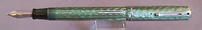 "Esterbrook ""Dollar Pen"" 2-Hole Clip-green--3556 Sunburst firm fine nib"