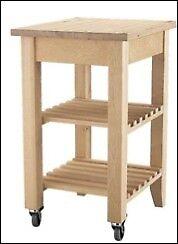 Wooden kitchen trolley