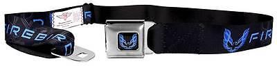 Seatbelt Men Canvas Web Military Firebird Black Blues Logo Black Blues Web