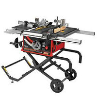 Table saw,, mitre saw compressor and work support stand and mitr