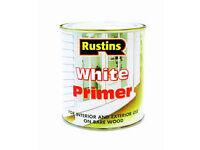 Rustins White Wood Primer 250ml (Discount pack of 10)