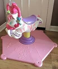 Pink musical bouncing zebra for sale