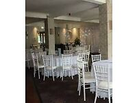 Chiavari white chairs for HIRE for any event