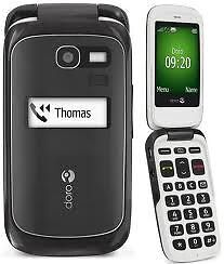 Optus-Prepaid-Doro-PhoneEasy-615-Camera-Bluetooth-Big-Button-3G-Flip-Phone