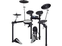 Roland TD4 Drum kit with great drum stool. Lightly used but water stains/rust on foot pedal.