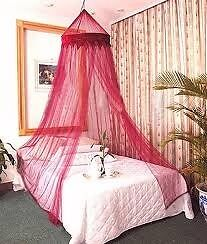 Bed Canopy Mosquito Net Burgundy Circular Double/Single Bedroom Curtains Decor