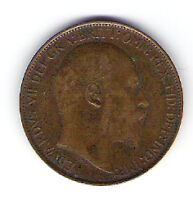 Coin 1909 Great Britain 1/2 Cent Penny