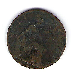 Coin 1907 Great Britain 1/2 Cent Penny Kingston Kingston Area image 2
