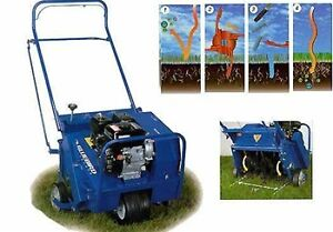 Core Aeration Lawn Rolling Water Filled Drums, Dethatching