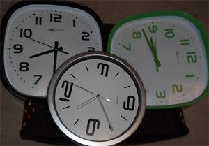 a few wall clocks
