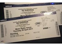 2x Ed Sheeran standing tickets Newcastle 20.04.17