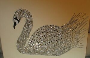 Faux crystal swan on canvas Windsor Region Ontario image 1