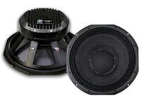 15 inch bass speakers (drivers) fane eminence rcf precision devices turbomax