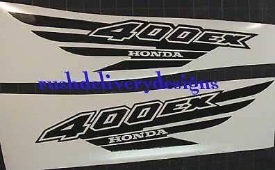 400Ex Honda Decals Atv Graphic Gen1 Gloss Black Quad Pick Any Color 12Pc Sticker