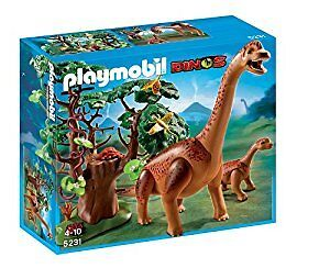 Playmobil dino set with either triceratops or brachiosaurus