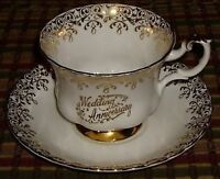 Wedding Anniversary Royal Albert Bone China Tea Cup & Saucer
