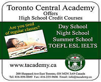Summer School and Night School - Toronto Central Academy
