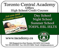 Summer Credit Courses - Ministry Approved