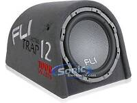 12 inch fli trap active 1000 watt subwoofer with built-in amp and all wires to fit