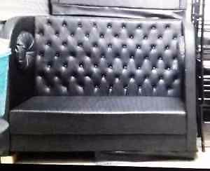 Black LEATHER BENCH Benches, Restaurant Booths *EUC* 6 Avail.