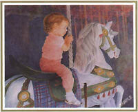 John Newby Artists Proof Carousel Princess Hard to Find