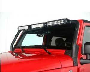 Windshield LED Light Bar; 07-17 Jeep Wrangler JK