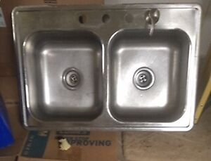 NEWER STAINLESS STEEL DOUBLE KITCHEN SINK  $50