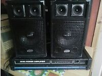 band dj set up amp and speakers