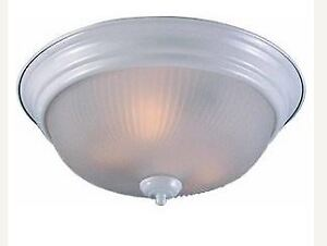 Ceiling light-frosted glass-swirl design white(brand new)
