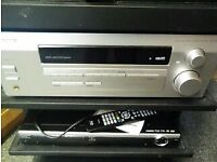 pioneer high end cinema amp with instructions and remote
