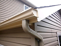 Eavestrough/gutter, soffit, fascia. Cleans,repairs, installation