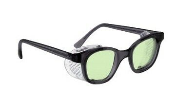 Light Green Hot Glass Furnace Glasses in Plastic Safety Frame With Shields