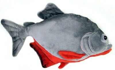 "12"" Red Bellied Piranha Fish Plush Stuffed Animal Toy on Rummage"