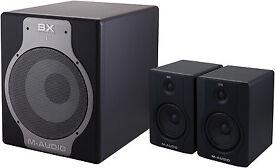 M Audio BX5 2.1 Active SoundSystem Studio Speakers and Subwoofer