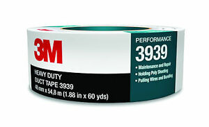 3M 3939 Heavy Duty Duct Tape Silver, 48 mm x 54.8 m 9.0 mil