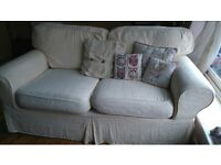 Cream 2 seater sofa in excellent condition