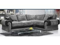 luxury Ashley corner sofa with #FREE #FOOTSTOOL